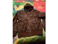Leather jacket size xxl