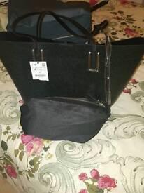 New metallic tote zara bag!!