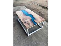 Beautiful resin table