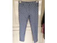 New look print skinny trousers