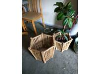 Plant baskets x 3 CAN DELIVER