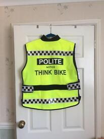 Biker hi vis waistcoat