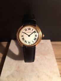 Cartier Ellipse 18ct Gold Watch - Case Size 33mm Rare Model Ladies