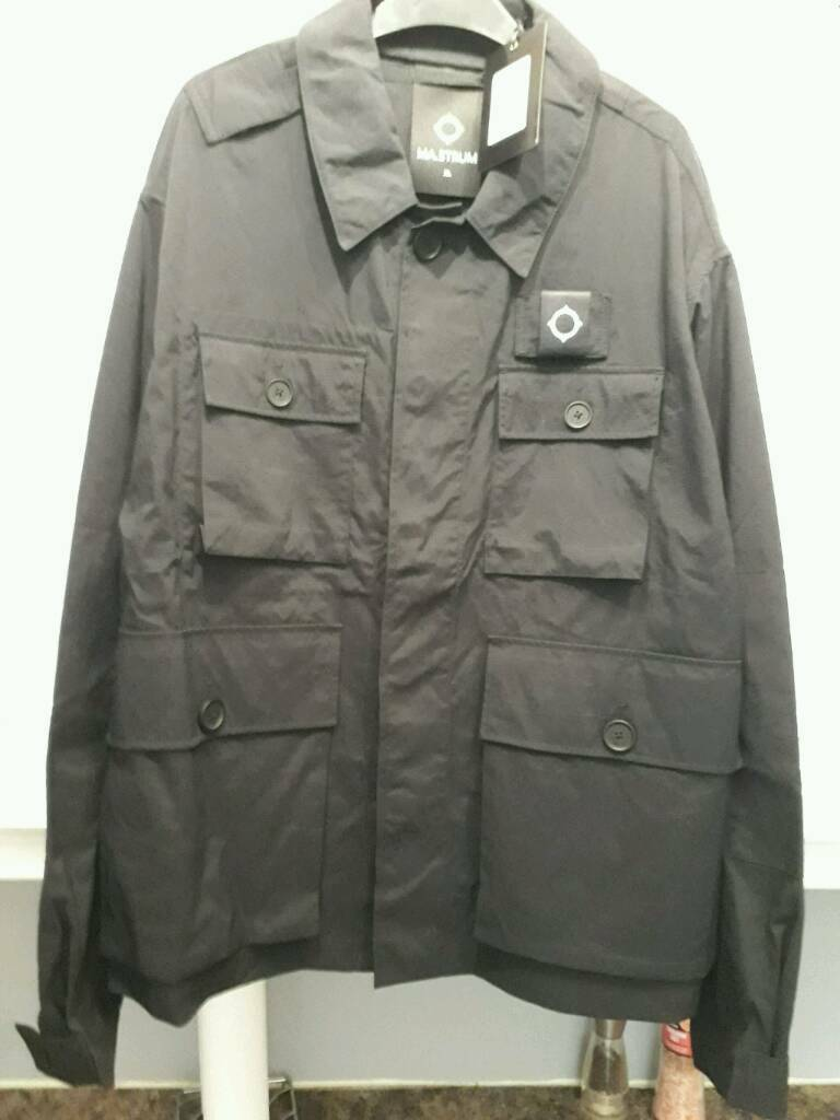 "ma strum charioteen black field jacket BNWT 24.5"" pit to pit stone island cp company"
