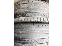 255 40 19 Tyres X2