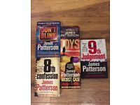 5 x James Patterson books, 2 hardback and 3 paperbacks