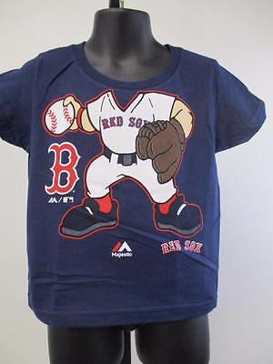 New-Minor-Flaw Boston Red Sox Toddler Infant Sizes 2T-3T Majestic Player Shirt