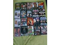 Wwf/Wwe dvds pictured 20 in total