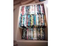 Joblot of 120+ Dvds & Blu Rays, Films, comedians, action Films, Kid's films etc.