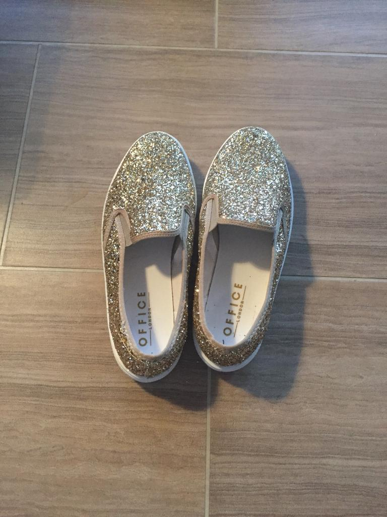 Gold glitter Office trainers size 8/41