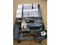 Bosch Jigsaw GST 85PBE with new blades & case