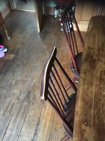 1930s Ercol Dining Room table and 5 matching chairs
