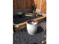 vintage galvanised Dolly Tub / Garden Planter 2 Available- can deliver