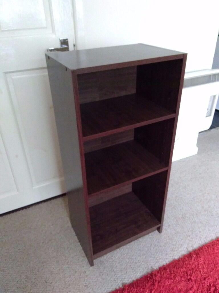 Argos Home Maine Half Width Small Extra Deep Bookcase Walnut