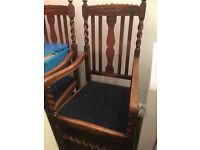 Solid mahogany extendable table and chairs