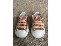 Converse baby girl all star glitter trainers