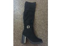 Quiz over the knee boots. Size 3. Brand New.