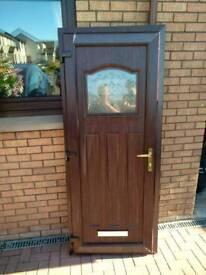 Double Glazed UPVC door in Rosewood