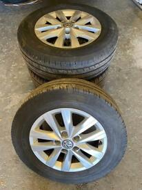 VW Transporter Highline Alloys & Tyres