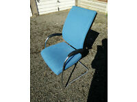 Blue Conference Office Chairs (x4). £10 per chair sold individually. £30 for 4 chairs.