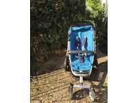 Quinny Buzz blue pushchair