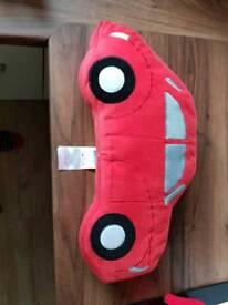Car cushion. Red.