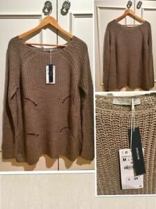 ***Z A R A Brand new tags on taupe cotton knit sweater