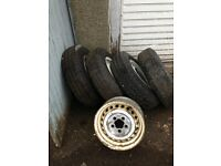 VW Bay Type 2 Steel wheels with tyres - set of 5