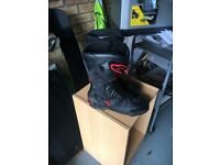 Motor bike helmets, gloves, boots all in 1 leathers
