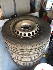 VW T5 Original Steel Wheels inc tyres