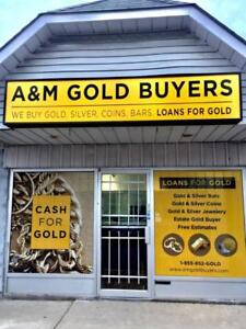 A&M Gold Buyers! Cash or Loan for Gold / Silver