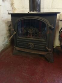 Oilfired logburner, kerosene red diesel etc