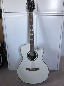 Guitar semi acoustic ESP XAC10E in white