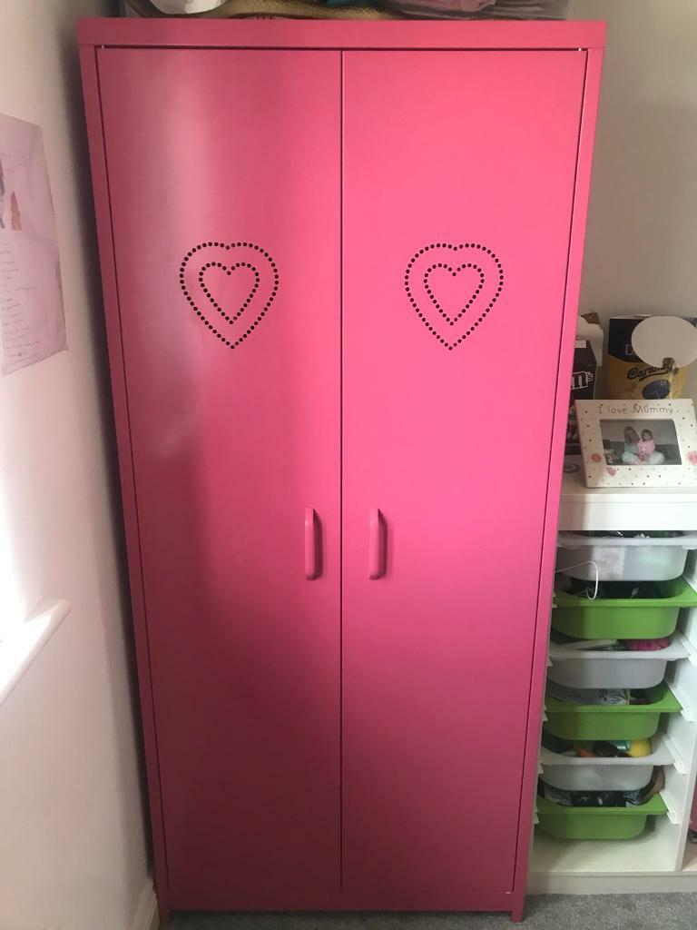 Girls Pink Next Locker Wardrobe In Barnard Castle