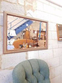 Vintage 1950's Bevelled Over Mantle Mirror