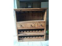 Solid wine rack for sale.