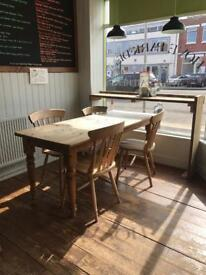 Large Pine Table + 4x Chairs