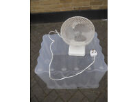 Small Table Desk Fan for sale 20cm width 2 speed Long cable