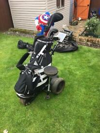 Electric golf trolley (bag and clubs not included) no battery