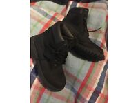 Timberland black 6inch boots, size 5.5 (5 1/2)