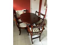 Mahogany Italian dining table price reduction