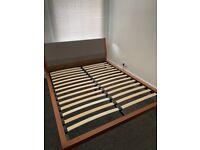 Made dot com Walnut Wood Lansdowne King Bed Frame