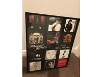 Framed Michael Jackson album covers poster *for collection please*