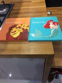 Disney books x 2 little mermaid and lion king
