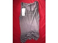 Gradient Stripe Vest Top Brand New