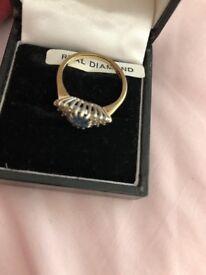 Beautiful gold diamond rings