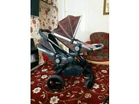 I candy apple double pushchair