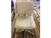 Cream hydraulic chair