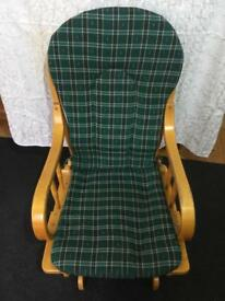 Sold for £40 /Rocking chair with rocking stool