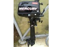 MERCURY 6HP / 4 STROKE OUTBOARD ENGINE / SHORT SHAFT / 2016 MODEL / ABSOLUTELY PRISTINE CONDITION!